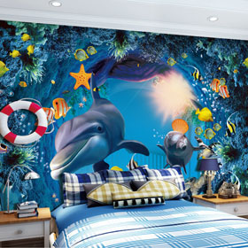 霍尔茨儿童普罗旺斯卡通海洋系列壁纸