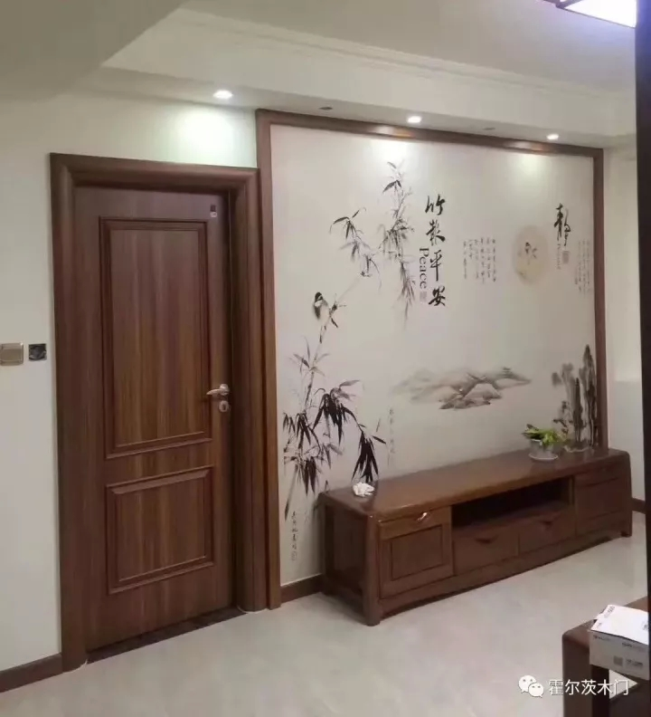 原木背景墙框架